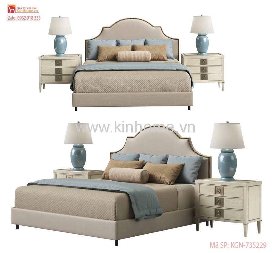 Giường Ngủ Caracole Horchow Cheresse King Bed